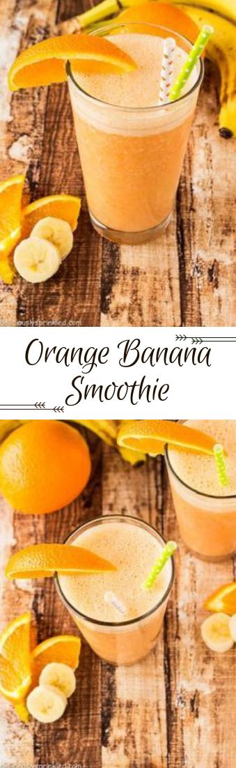 Orange Banana Smoothie #recipe #drink