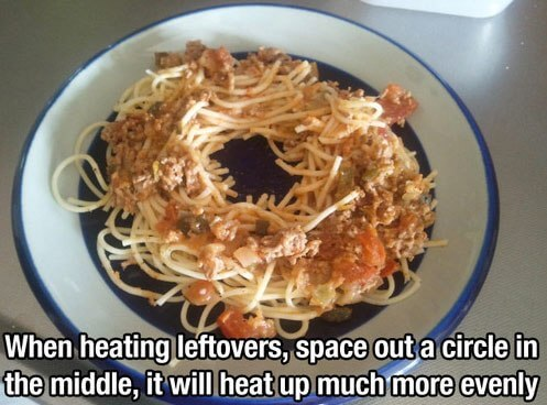 Heating leftovers like a pro