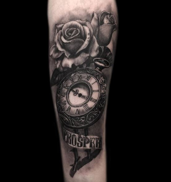 50+ Vintage Pocket Watch Tattoos Designs For Men (2019) - Tattoo Ideas 2019
