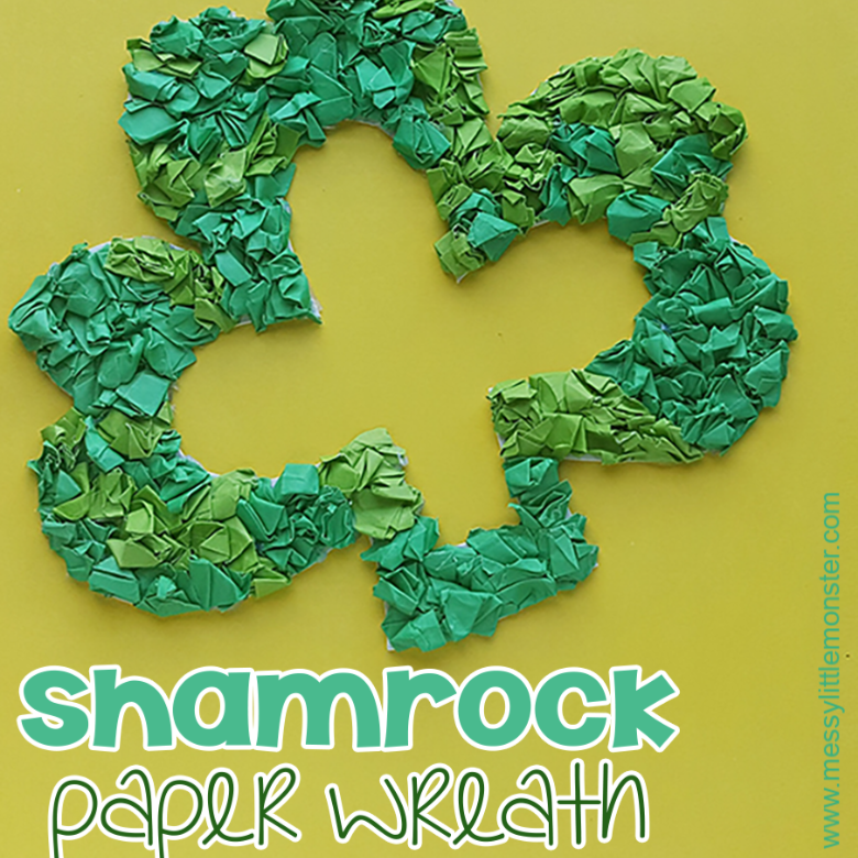 Shamrock Paper Wreath Craft