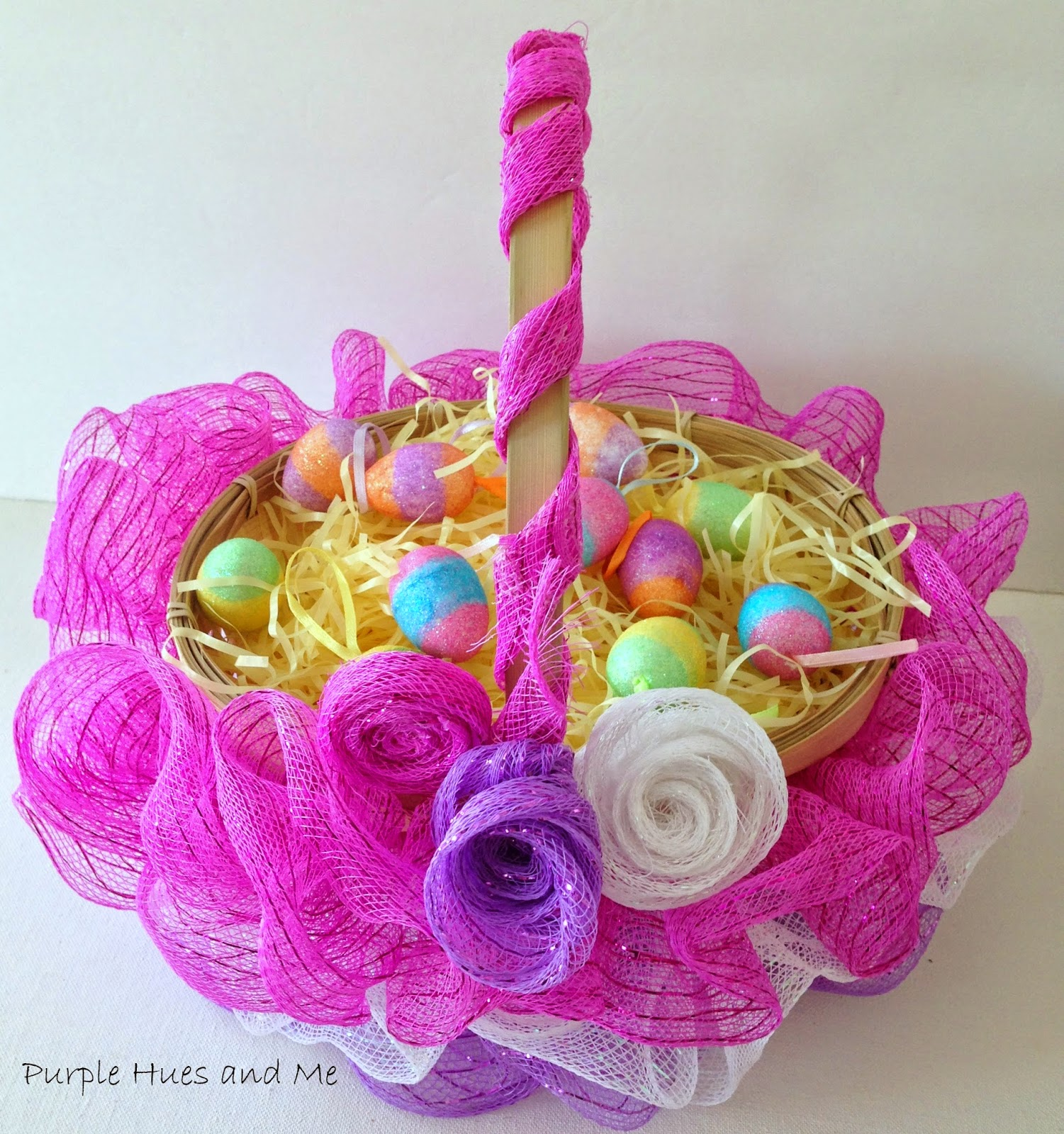 Two Silly Monkeys Easter Basket Wreath: -Crafting, DIY, Projects, Decorating