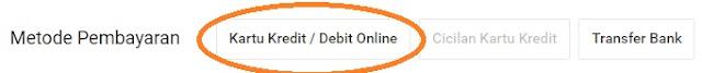 Pilih metode pembayaran dengan kartu kredit di shopee