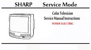 Service Mode TV SHARP Berbagai Type.