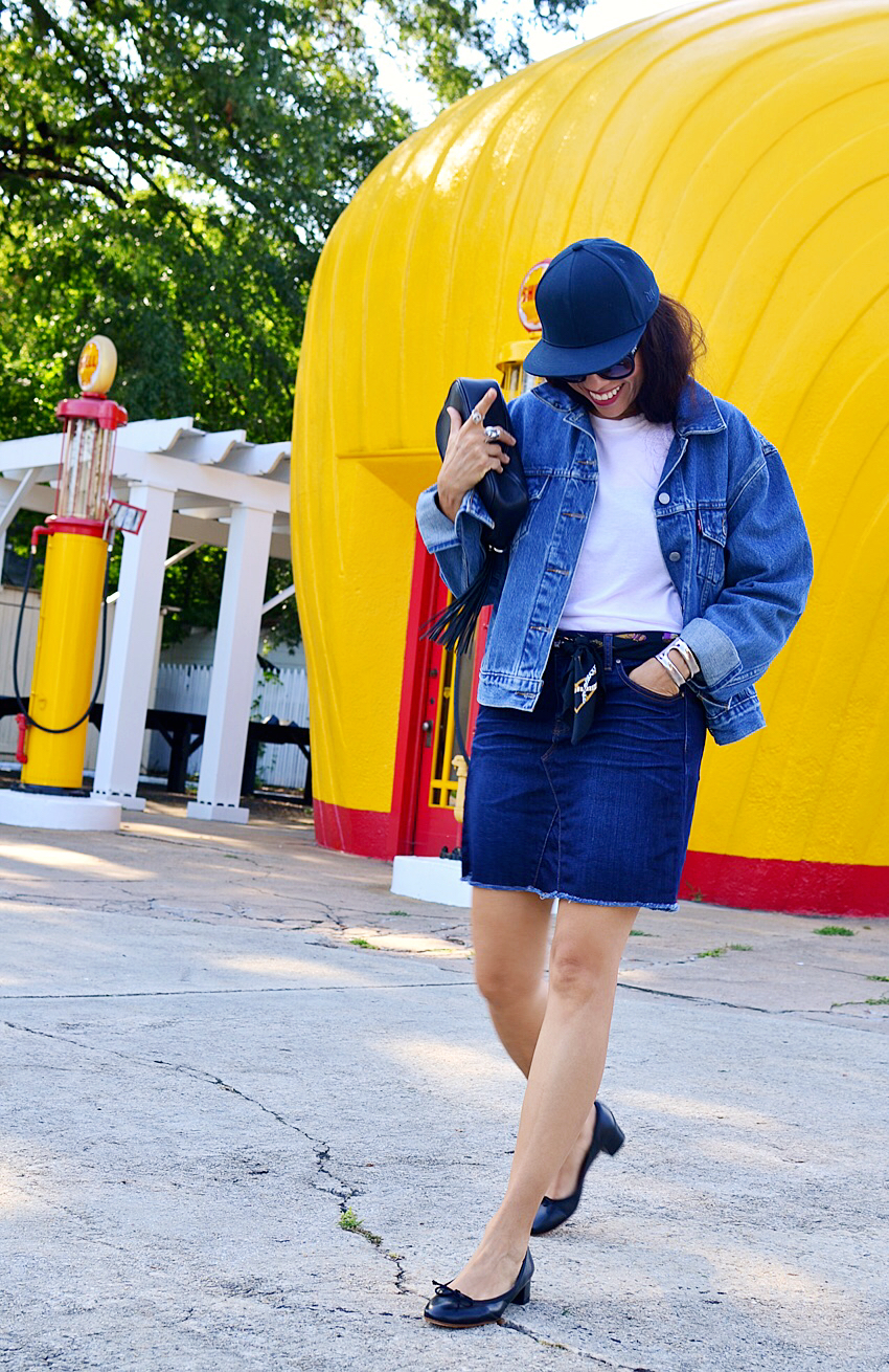 All denim street style
