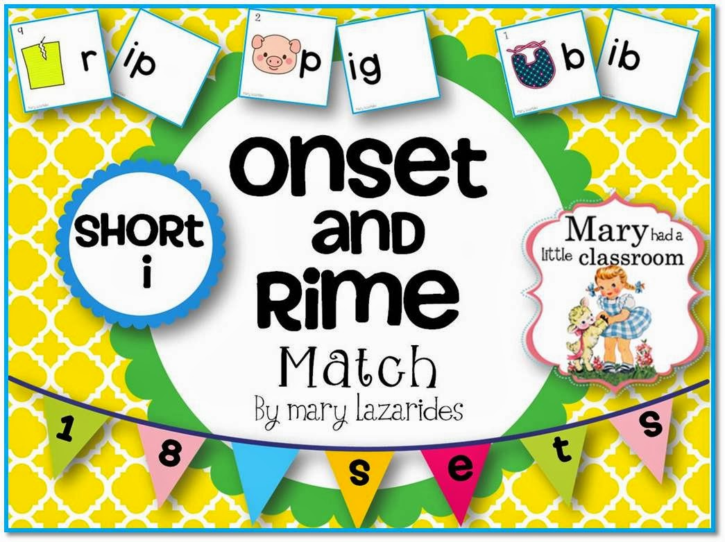 Mary Had A Little Classroom Onset And Rimes Five Free Games For Teaching And Practicing The
