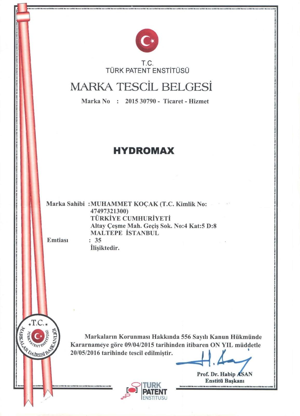 Hydromax Türkiye resmi satış merkezi