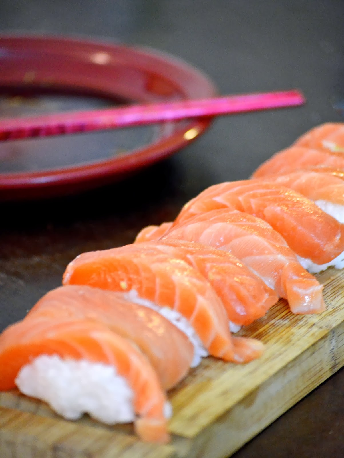 Salmon Sashimi fish Costco sushi