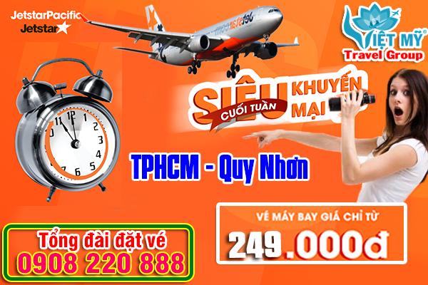 Jetstar khuyến mãi vé máy bay TPHCM đi Quy Nhơn giá chỉ 249k