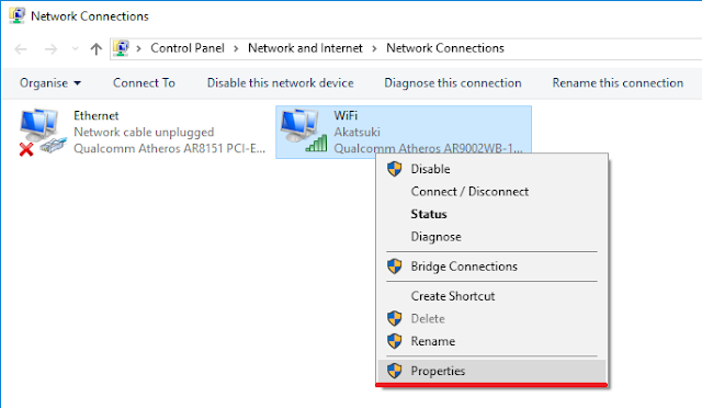 change DNS Servers in Windows 10