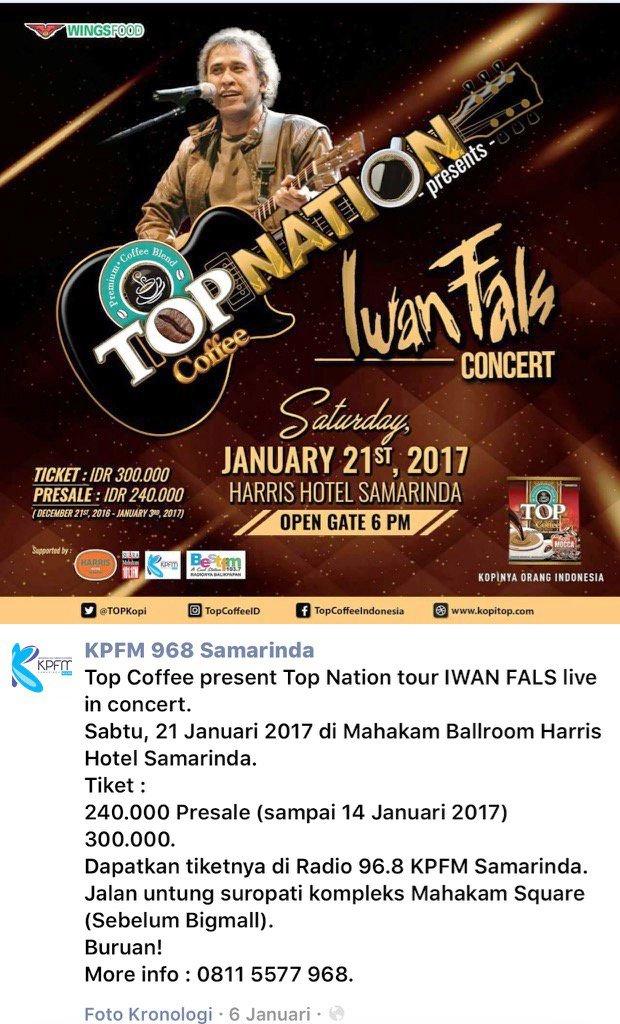 konser Iwan Fals di Samarinda Januari 2017