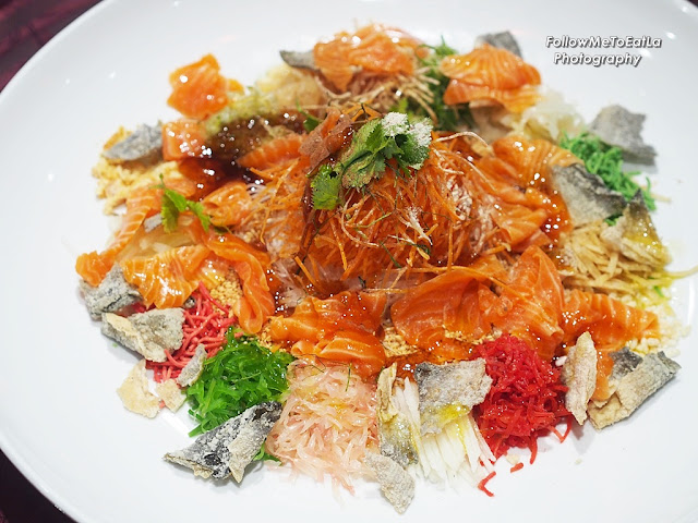 My Lovely Platter Of Prosperous Rainbow 'Yee Sang' With Salmon Trout