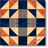 Handy Andy quilt block - image copyright W. Russell, patchworksquare.com