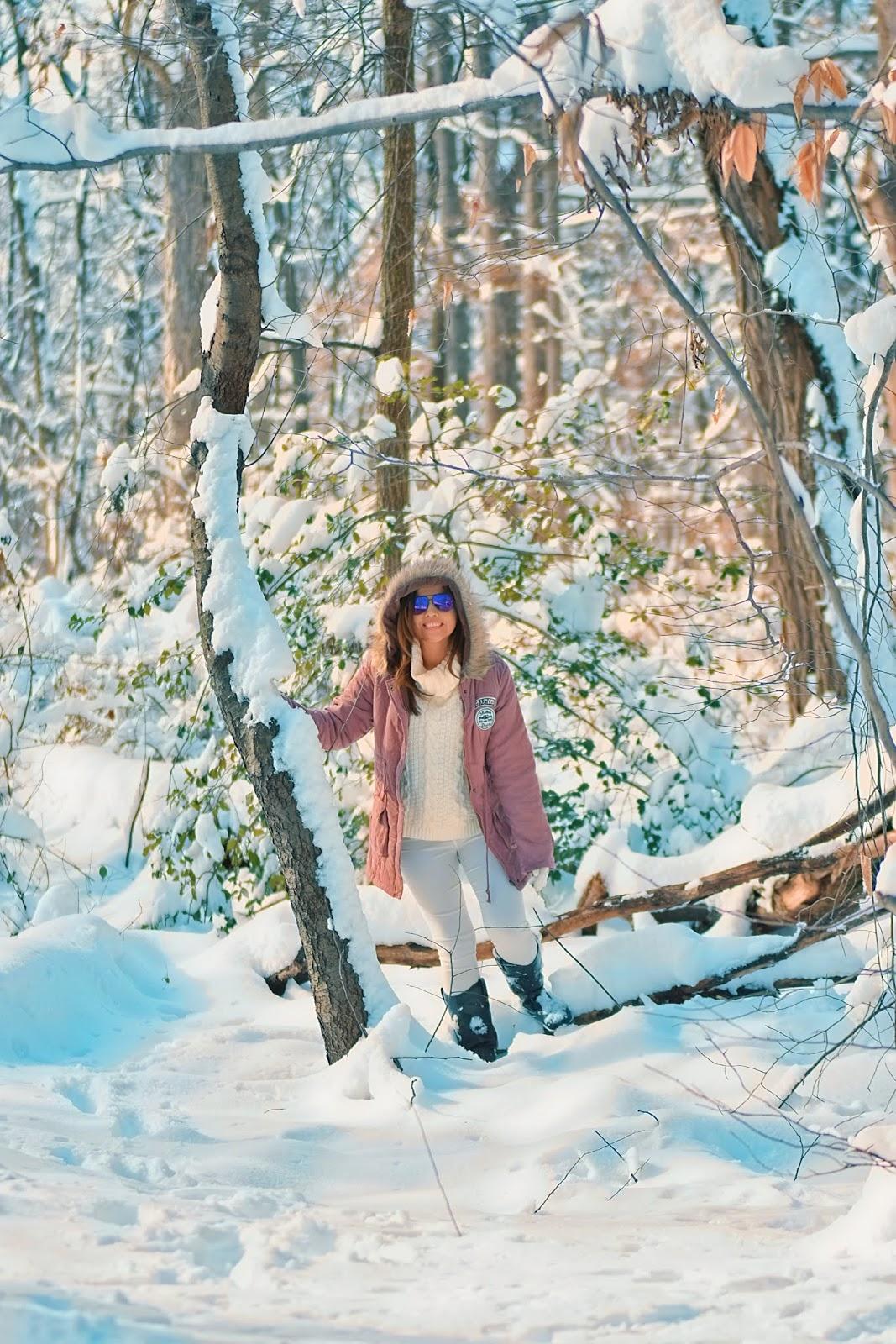 Faux Fur Hood Parka Coat-MariEstilo-winterwonderland-winter-snowday-travelblogger-shein-dcblogger-wanderlust-wanter-mountain view-
