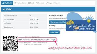 البيتكوين الدوغ كوين اللايت كوين مدونة مستقبلنا العربي bitcoin dogecoin  litecoin dashcoin earnmoney
