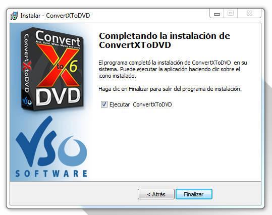 VSO ConvertXtoDVD Español Versión 7.0.0.31