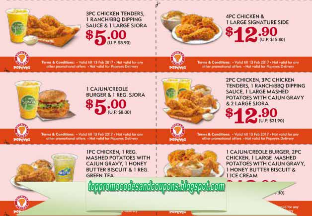 image regarding Popeyes Coupons Printable identify Popeyes discount coupons printable 2019