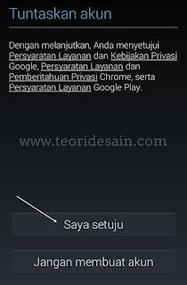 Daftar Gmail Terbaru Lewat Smartphone Android langkah ke 8