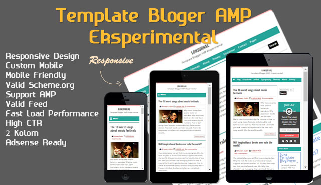 Lonjurnal Template Blogger Responsive Ringan dan SEO Friendly