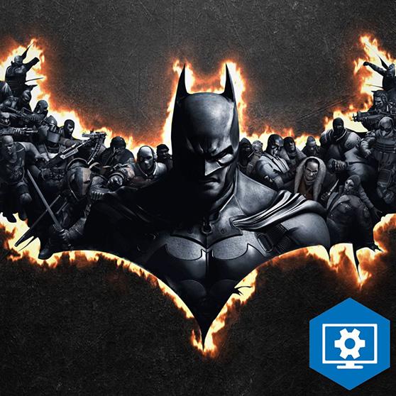 Flaming Batman Logo Wallpaper Engine
