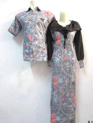 Baju Gamis Batik Modern Couple
