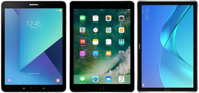 Samsung Galaxy Tab S3 vs Apple iPad 9.7 vs Huawei MediaPad M5 10