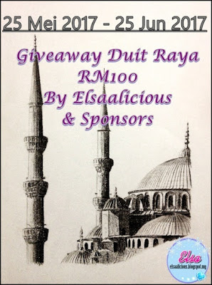 """""""Giveaway Duit Raya RM100 By Elsaalicious & Sponsors"""""""