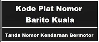 Kode Plat Nomor Kendaraan Barito Kuala