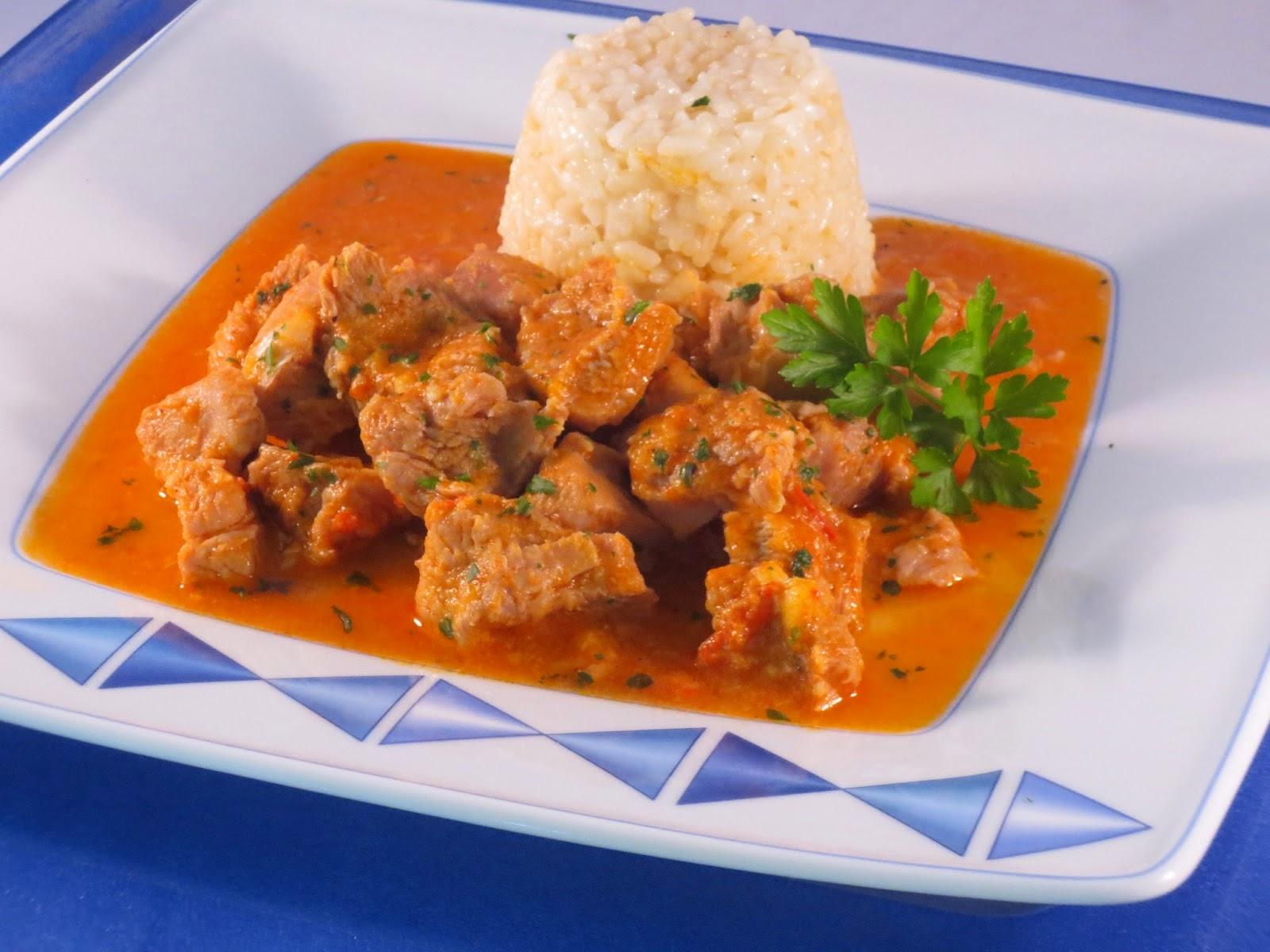 Pavo guisado en salsa de verduras Ana Sevilla cocina tradicional