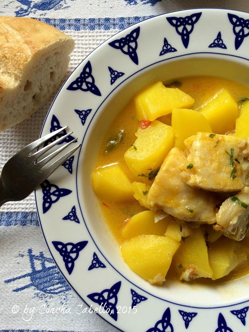 patatas-azafrán-bacalao