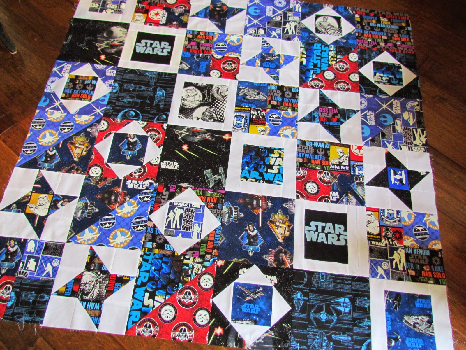 Kayakquilting Another And The Last Star Wars Quilt