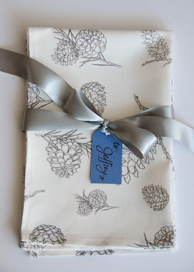 Rambling Renovators   pinecone fabric illustrated spoonflower
