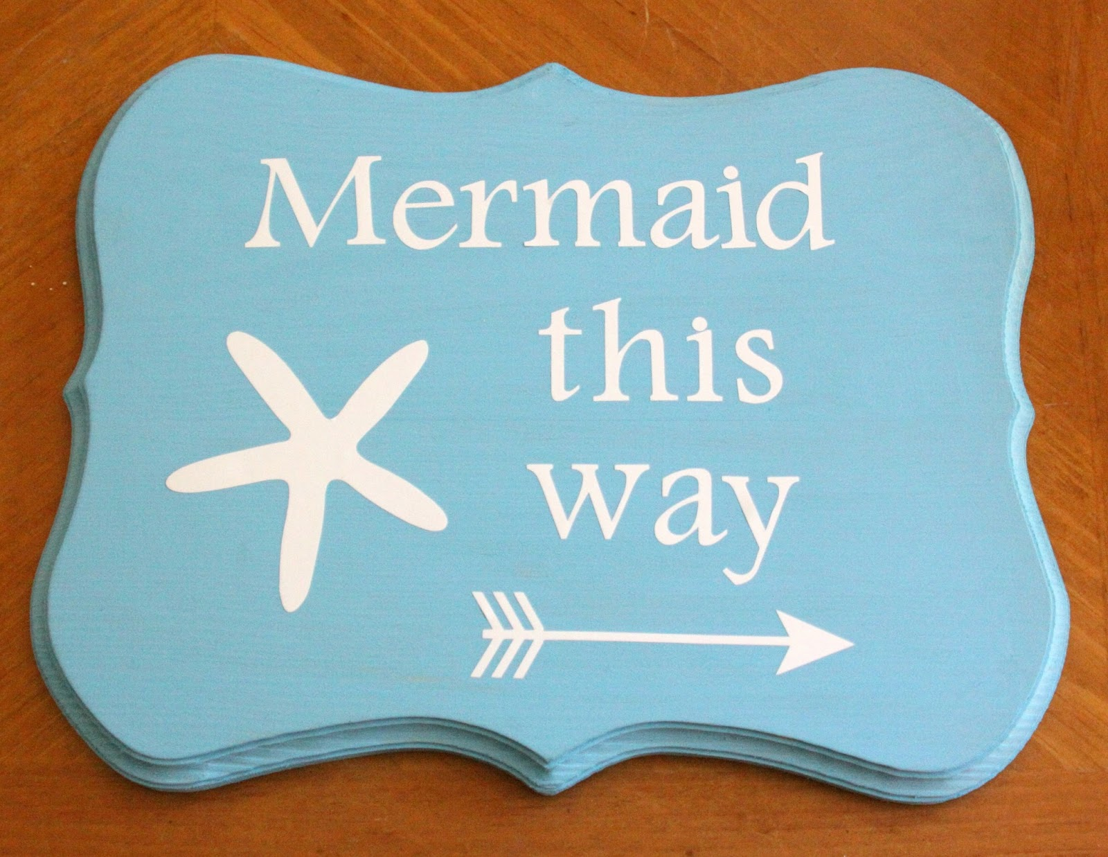 Our Pinteresting Family Pottery Barn Kids Knock Off Mermaid Sign