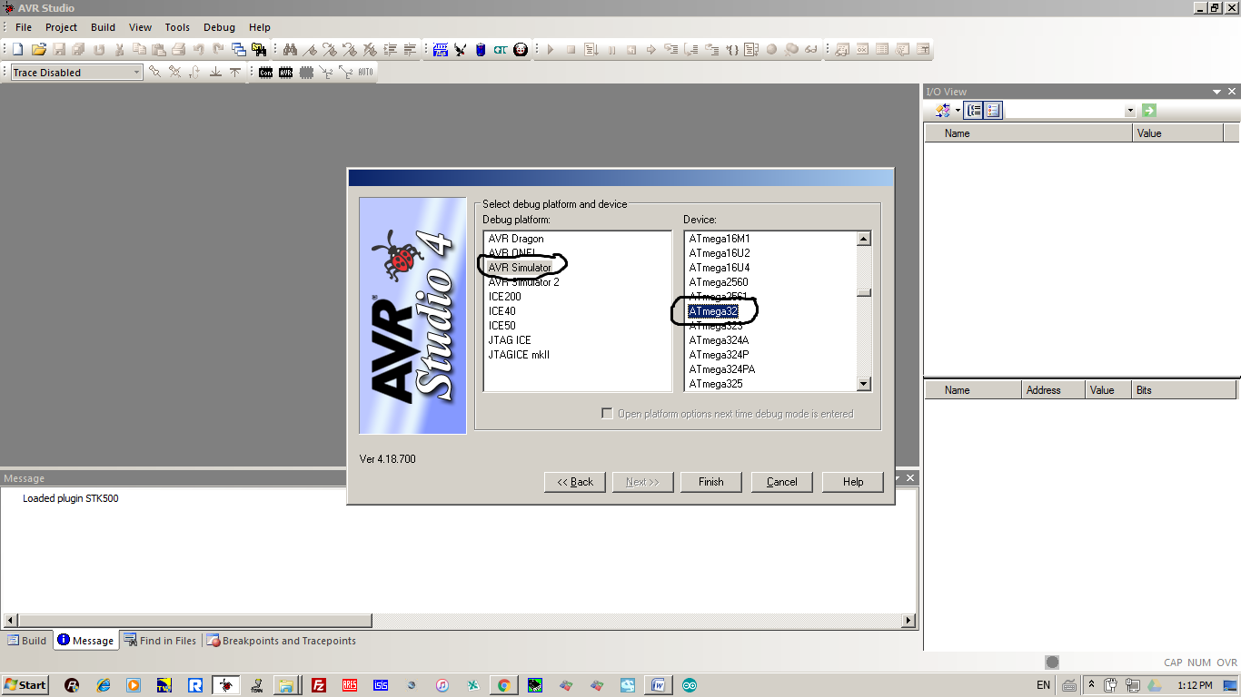 Embedded System Atmega Interfacing How To Configure Watchdog Timers Of Avr Microcontroller Atmega16 In The Debug Option Select Simulator On Right Dialog Box Device Which You Want Program Link Shown