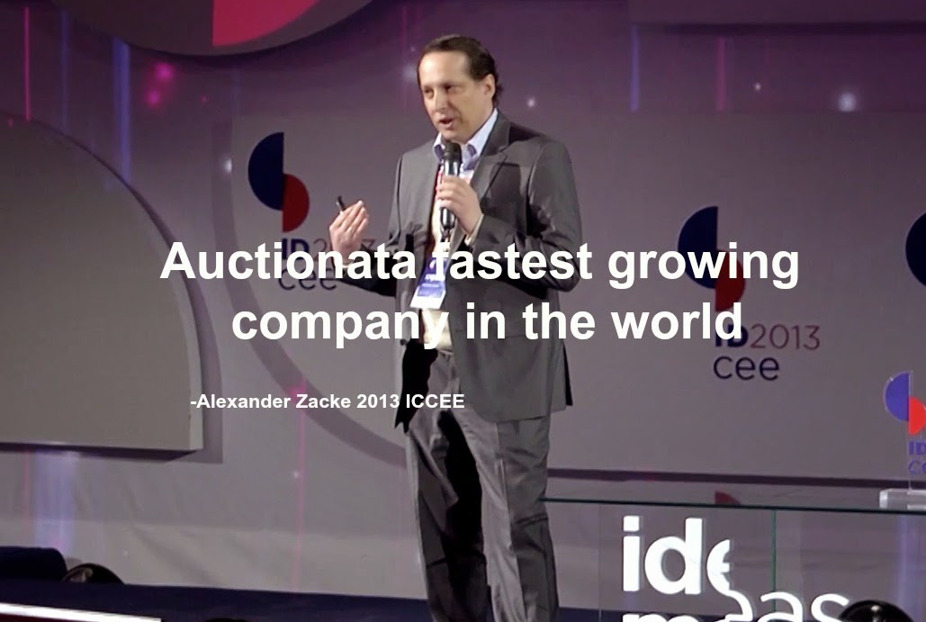 Alexander Zacke erroneously tells 2013 IDCEE Conference Auctionata fastest growing company