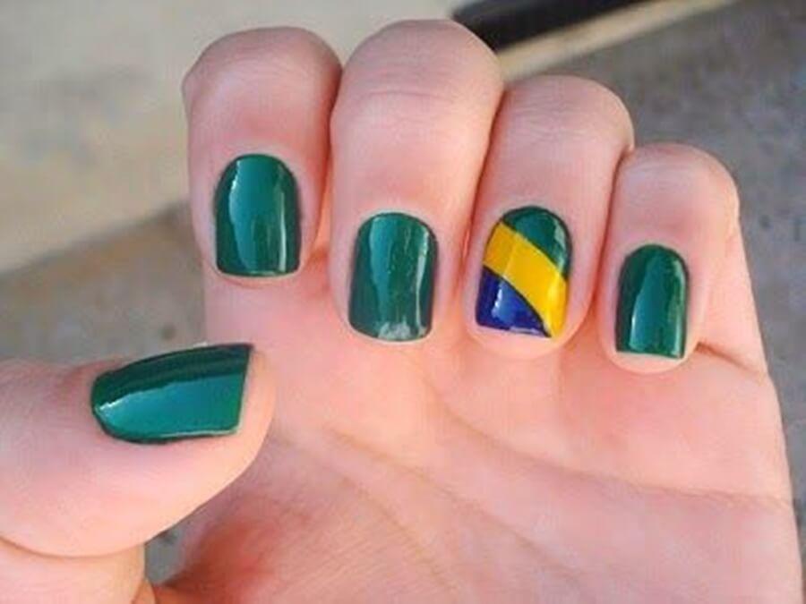 unhas para torcer pelo brasil na copa do mundo