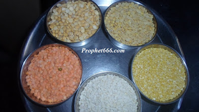 5 different kinds of Dal for use in a paranormal remedy ot Totka