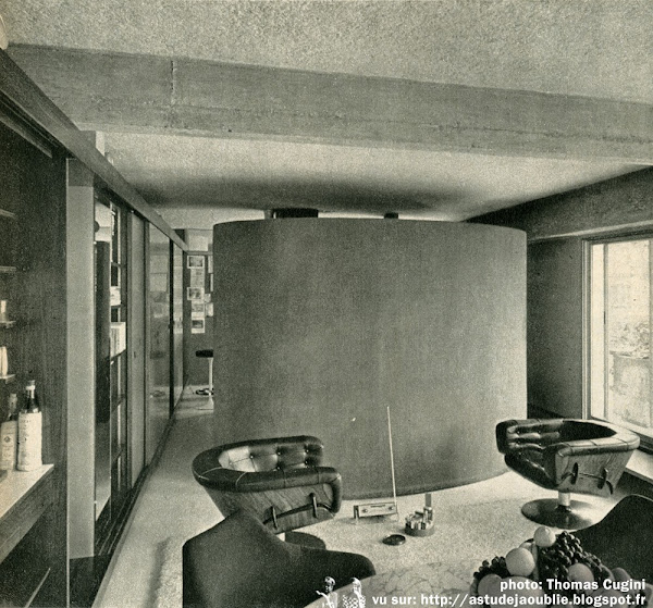 Paris - Appartement de Ionel Schein  Architecte: Ionel Schein  en colaboration avec Claude Demoulain, Dirk Jan Rol et Janine Abraham.  Photos: 1966