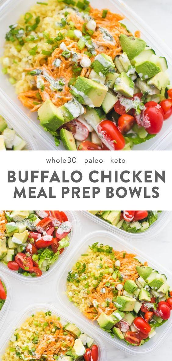 Buffalo Chicken Ranch Whole30 Meal Prep