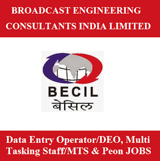Broadcast Engineering Consultants India Ltd., BECIL, Delhi, NCR, 10th, Data Entry Operator, DEO, Multi Tasking Staff, MTS, Peon, Sarkari Naukri, Latest Jobs, freejobalert, becil logo