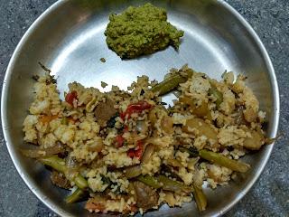Seeraga Samba rice Veg Biryani,  Mint chutney