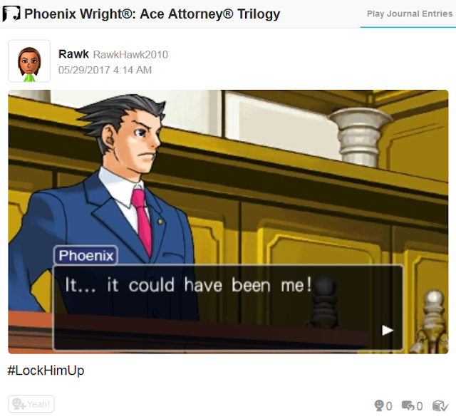 Phoenix Wright Ace Attorney court session lock him up could have been me