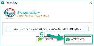 Activation Key and click on ACTIVATE.