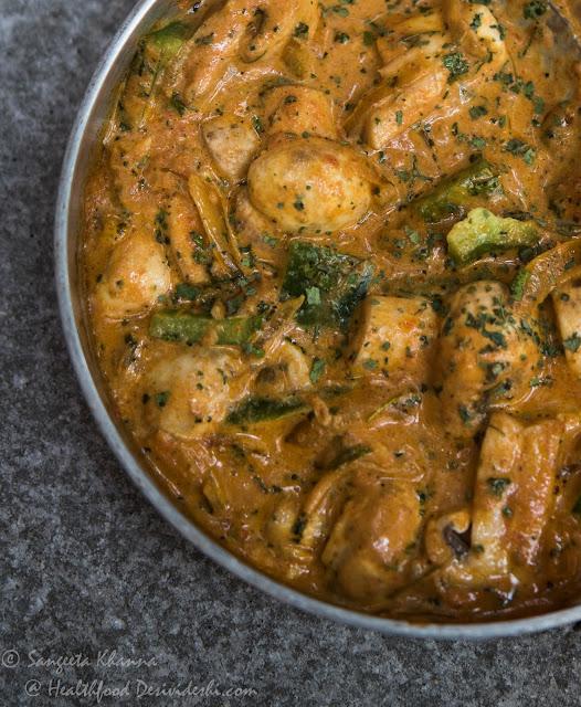 kadhai mushroom recipe made low fat