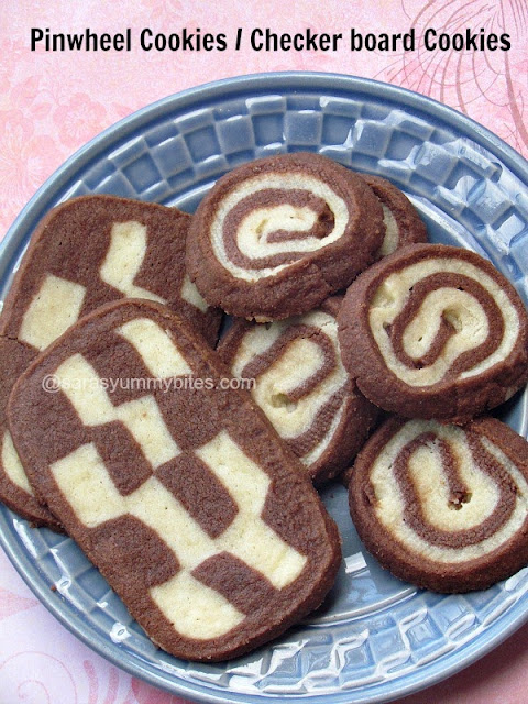 Pinwheel Cookies or checker board Cookies