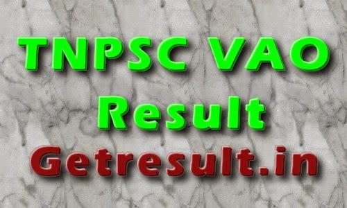 TNPSC VAO Result 2014