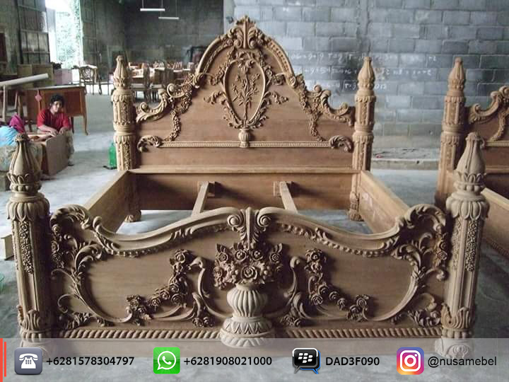 Mahogany Victorian Carving Bed Symphony