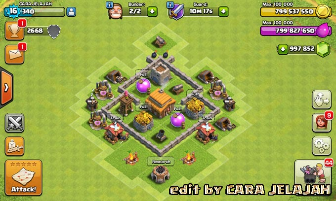 Desain Base Hybrid Clash Of Clans Town Hall 3 Update Terbaru 8
