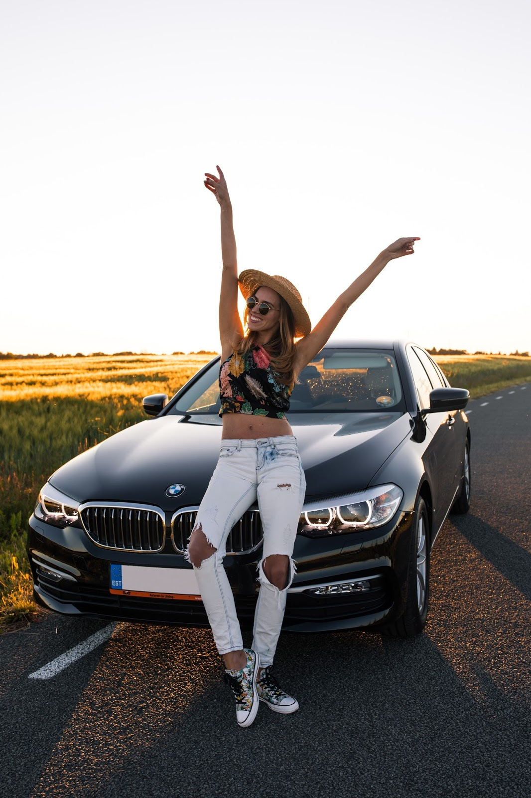 girl fun summer roadtrip