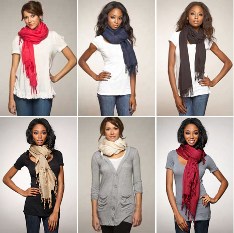 Fashion Trend Style How to tie up style with scarf or shawl Book On How To Tie Women's Scarves