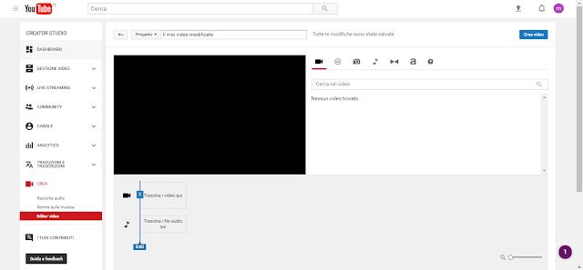 You Tube Video Editor screen-shot